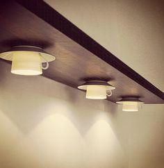 Cup and saucer lights DIY