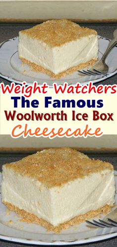 The Famous Woolworth Ice Box Cheesecake is one of the easiest ways to make a no-bake cheesecake at home. This light and refreshing icebox dessert were made famous by Woolworth's lunch counter back in the Waffle Recipes, Ww Recipes, Snack Recipes, Dessert Recipes, Candy Recipes, Burger Recipes, Dinner Recipes, Potato Recipes, Cheesecake Recipes