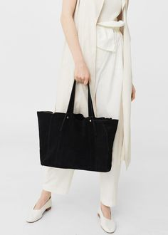 Accessories for Women 2019 Shopper Bag, Tote Bag, Large Bags, Mango, Leather, Outfits, Accessories, Tops, Women