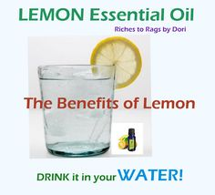 The benefits of LEMON Essential Oil. Every house should have this oil.