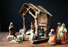 Vintage Nativity  W Germany manger scene by cristinasroom on Etsy.