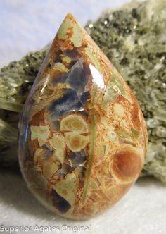 Owyhee Blue Opal in Matrix Hand cut Cabochon by superioragates, $20.00