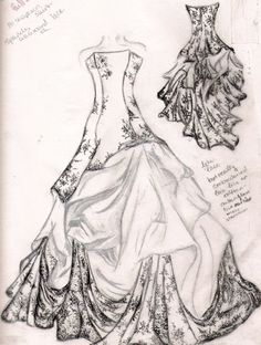 wedding dress sketch by ~familiarshadow on deviantART