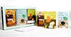 Music Note Cards set  18 cards illustrated by by boygirlparty, $14.00