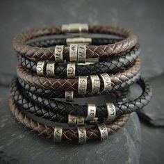 Gift for men, Mens, Personalized bracelet for men, Mens gift, Mens bracelet, Mens leather bracelet, Personalized, Anniversary gifts for men