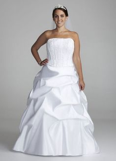 Strapless Satin Ball Gown with Beaded Lace Corset Style AI13012403