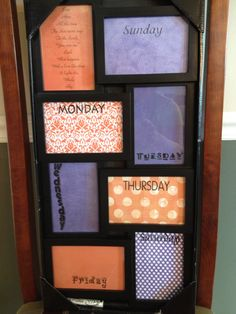 had a blast using a collage frame from wal mart and some pretty scrapbook paper from