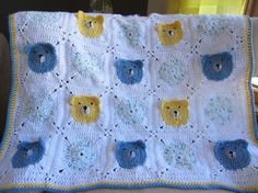 TEDDY BEAR BLANKET For Baby. Adorable all cotton by Bluetulipgifts, $50.00