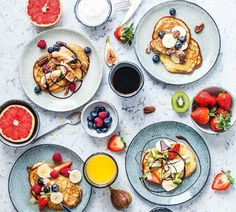 Brunch plans this weekend? Breakfast Photography, Food Photography, Food Porn, Gluten Free Pancakes, Yummy Food, Tasty, Food Styling, Styling Tips, Food Inspiration