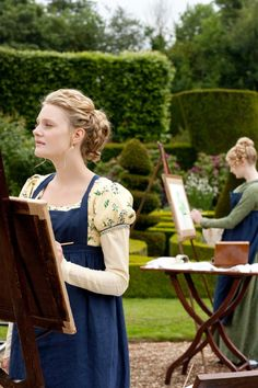 Emma and Harriet painting