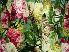 Floral Barkcloth.