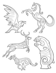 "bronze-wool: "" Brave, Celtic/Pictish Animal designs by Michel Gagne. "" bronze-wool: "" Brave, Celtic/Pictish Animal designs by Michel Gagne. Celtic Patterns, Celtic Designs, Tribal Designs, Embroidery Patterns, Machine Embroidery, Easy Doodle Art, Motifs Animal, Viking Art, Viking Runes"