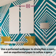 Change the ambiance of a room by playing with wallpaper.