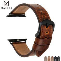 d1011544d1f Hot Offer MAIKES Genuine leather watch bracelet Watch accessories thin  watch strap black watchband for DW daniel wellington watch band …
