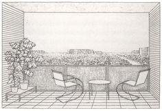 Karl Ludwig Hilberseimer, Mixed-height housing development (Mischbebauung), c. 1930