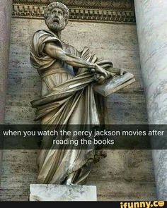 SO TRUE! I almost threw the CD across the room but Mom was watching ARGGG so true It's the opposite for me. Percy Jackson Film, Percy Jackson Ships, Percy Jackson Memes, Percy Jackson Fandom, Magnus Chase, Solangelo, Percabeth, Jackson's Art, Rick Y