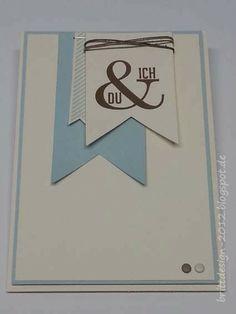 Stampin' Up! mit brittdesign: Valentinskarte - du & ich