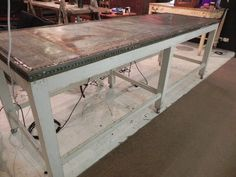 industrial rustic bar table or work bench or kitchen island