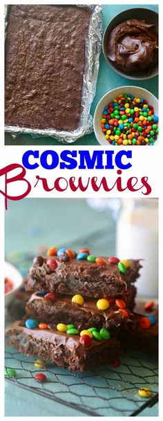 How to make Little Debbie Cosmic Brownies #copycat #copycatrecipe #littledebbie #mandms #m&ms #brownies #bestrecipes #bestdessert #bestbrownies #easydessert #kidsdessert #kidsrecipe