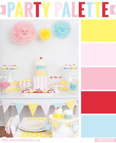 Eee! This color palette makes me so happy! #colorpalette #partyideas