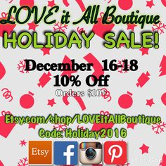 Shop Now! Receive by Christmas!