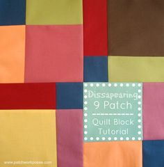 Learn how to sew a 9 patch quilt block and then cut it up into a dissapearing 9 patch quilt block! Quick tutorial and help with layout included.