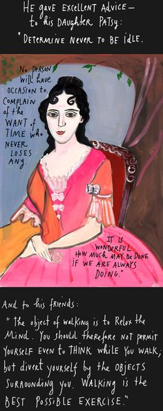 Maira Kalman - Time Wastes Too Fast (illustrated essay about Thomas Jefferson on the occasion of a visit to Monticello)