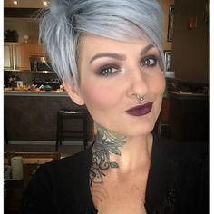 Grau ist HOT! 12 schöne Kurzhaarfrisuren in Grau, die Du unbedingt mal versuchen solltest! - Neue Frisur
