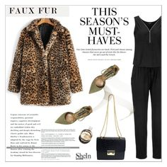 """""""Faux Fur Coats"""" by aurora-australis ❤ liked on Polyvore featuring WithChic, Steve Madden, H&M, Chanel, Sheinside and fauxfurcoats"""