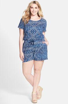 DKNY+Jeans+Batik+Print+Romper+(Plus+Size)+available+at+#Nordstrom