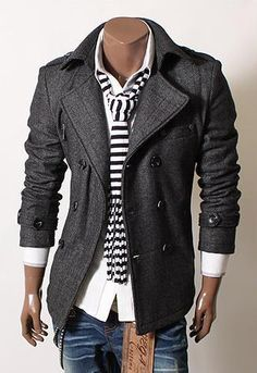 I wish we sold men's coats like this at my work! I'd make dead sure these babies would sell like hotcakes