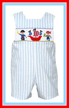 Smocked Pirates Jon Jon by Anavini this would be perfect for Gasprialla!