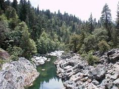 The Yuba river located in Nevada City, CA