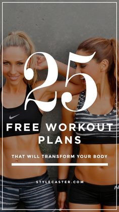 25 FREE workout plans that will totally transform your body Pinterest|| stellastrouse