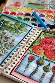 art journal (how cool is that? They painted what a flower looks like in its stages of growth!)