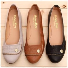 Ladies Ballet FLATS BALLERINA Casual Comfy Work Shoes