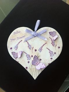 Decorated Wooden Heart