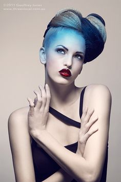 Beauty Photography by Geoffrey Jones    Like the style not the blue hair