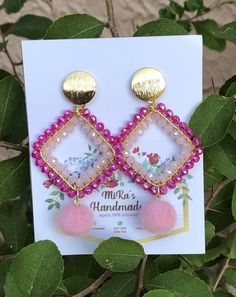 Seed Bead Earrings, Beaded Earrings, Wire Jewelry, Beaded Jewelry, Handmade Necklaces, Handmade Jewelry, Beaded Crafts, Imitation Jewelry, Sicily