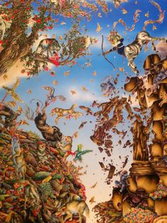 Untitled by Raqib Shaw on Curiator, the world's biggest collaborative art collection. Raqib Shaw, Gallery Of Modern Art, Digital Museum, Contemporary Paintings, Abstract Paintings, Visionary Art, Old Art, Illuminated Manuscript, Art Photography