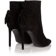 Paris suede ankle boot Saint Laurent MATCHESFASHION.COM ❤ liked on Polyvore featuring shoes, boots, ankle booties, suede ankle bootie, bootie boots, short boots, yves saint laurent and suede booties