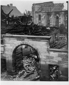 Kristallnacht November 9, 1938 - Burning of Synagogues in Fuerth, Germany. A turning point for Bill's family who rushed to get a Haiti visa which enabled the family to leave Germany for Port-au-Prince. (Photo by Ferdinand Vitzethum)