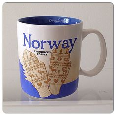 Norway Starbucks Coffee Cups, Starbucks City Mugs, Global Icon, Norway, Plates, Tableware, Addiction, China, Holiday