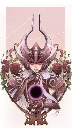 "summonersofruneterra: ""Syndra x Black Rose(OMG! AMAZING!) - 세진 김 """