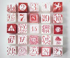 DIY Printable Watercolor Advent Calendar