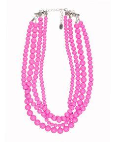 neon pink LOVE.... Statement necklace