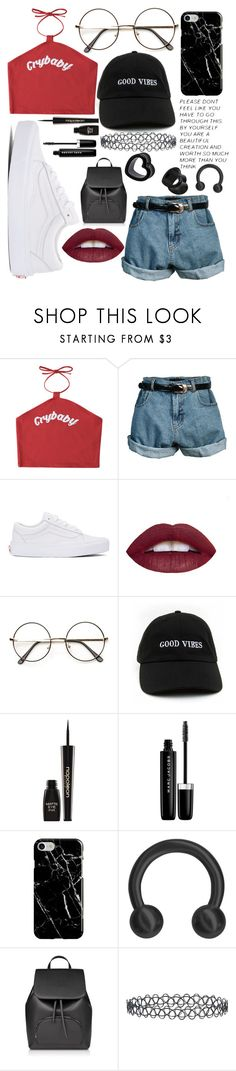 """""""My style has changed a bit, I'm more trendy lol"""" by peachy-babe ❤ liked on Polyvore featuring Retrò, Vans, L.A. Girl, Napoleon Perdis, Marc Jacobs, Recover and New Look"""