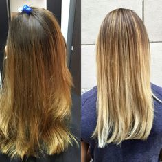 Teasy balayage/foils with KM 7 levels of lift lightener. Toned with 9T and 7V in shades EQ.