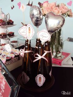 Pink and Brown Bridal/Wedding Shower Party Ideas | Photo 1 of 32