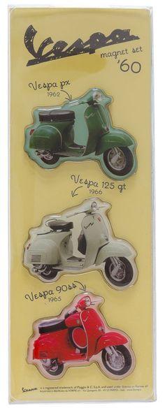 VESPA 1960S MAGNET SET $15.00 #vespa #housewares #magnets #retro #vintage #1960s